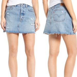 Levi's Deconstructed Mini Skirt